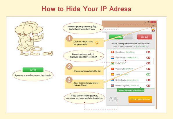 Hide My IP VPN extension - Opera add-ons