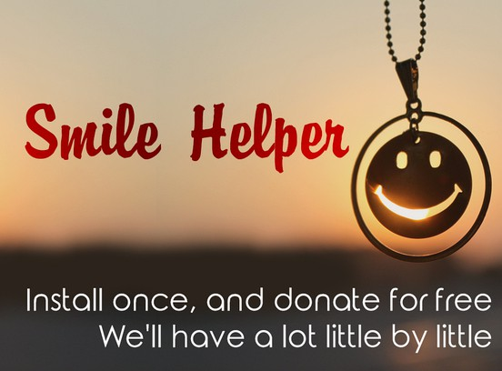 Здымак экрану для Smile Helper