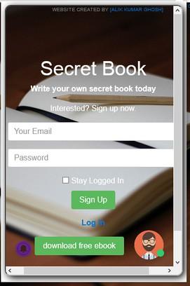 สกรีนช็อตสำหรับ Secret Book