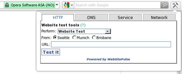 Screenshot for WebSitePulse Test Tools