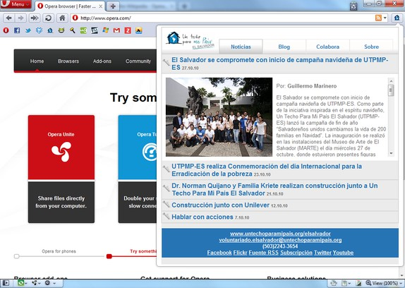Screenshot di Un Techo para mi País El Salvador