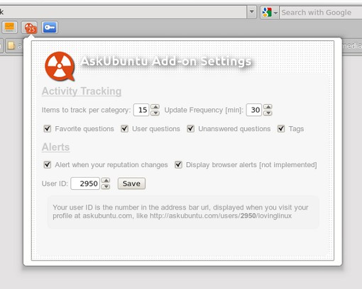 AskUbuntu Add-on extension - Opera add-ons
