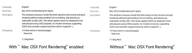 Screenshot for Mac OSX Font Rendering