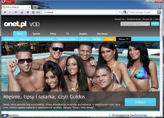Bildschirmfoto für vod.onet.pl