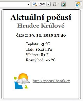 Imagem para Počasí Barák.cz