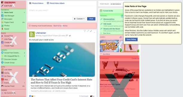 facebook social toolkit chrome extension on chrome web browser