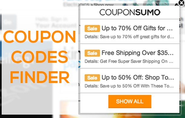 CouponSumo - Coupon Codes Finder extension - Opera add-ons