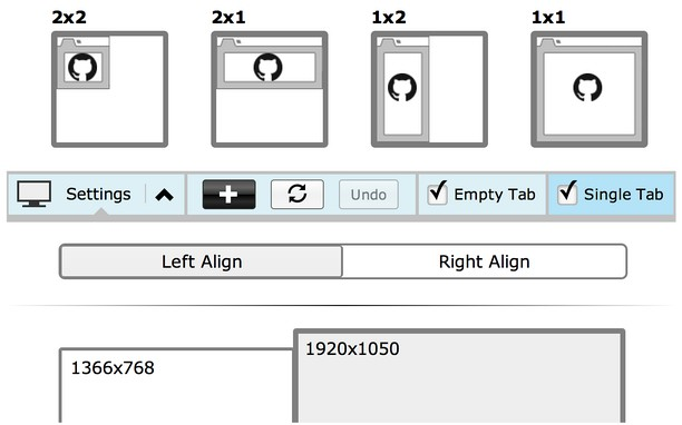 Tab Resize - split screen layouts extension - Opera add-ons