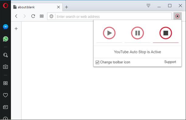 Snímek obrazovky pro Auto Pause|Stop for YouTube™