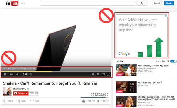 Snímka balíka AdBlocker for YouTube™ Video