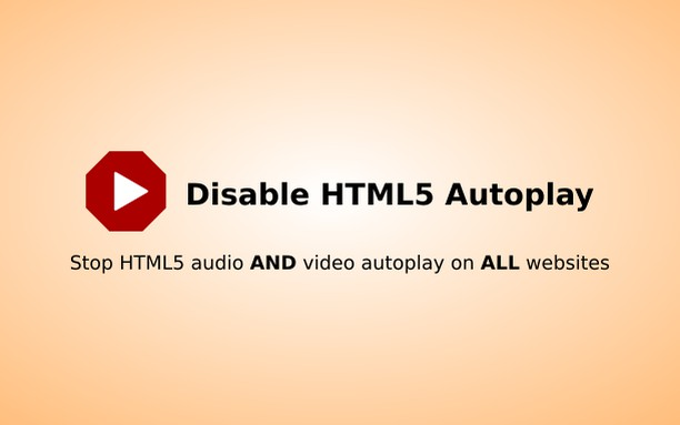 Captura de tela de Disable HTML5 Autoplay