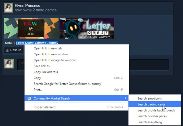 Screenshot for Community Market Search