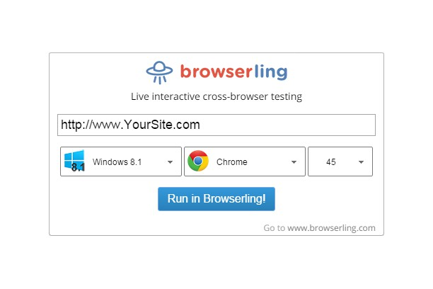 Copie d'écran pour Browserling - Cross-browser testing