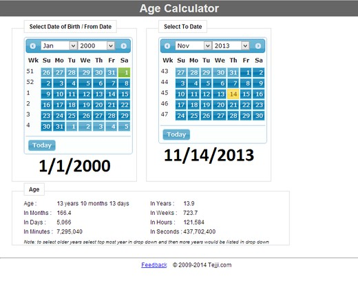 Age Calculator extension - Opera add-ons