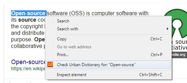 urban dictionary search extension opera add ons