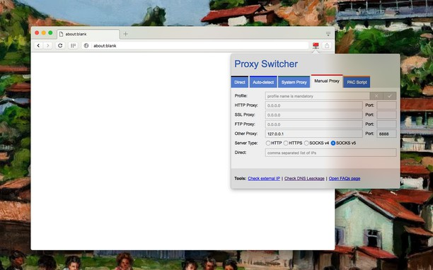 Proxy Switcher & Manager extension - Opera add-ons