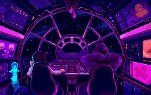 Symbol für Star Wars - Han Solo and Chewbacca Pixelart