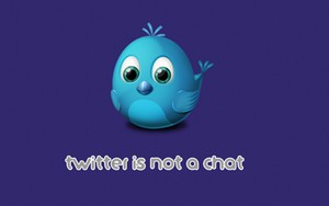Icono de Twitter is not a Chat