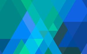 Icono de Triangular bleu