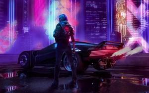 Icono de Cyberpunk girl in the rain HD