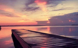 Symbol für Sunset over the lake