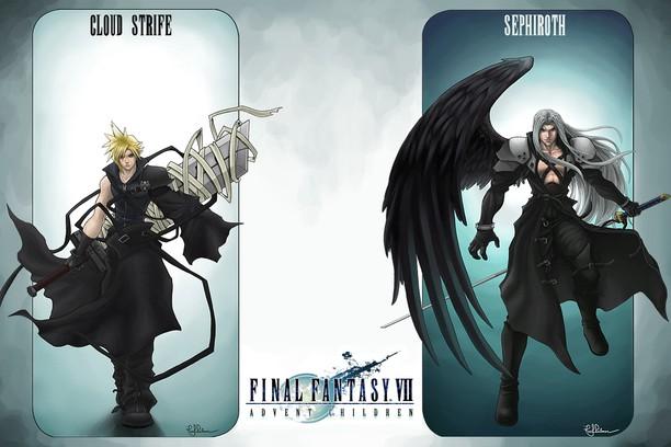 Cloud And Sephiroth Final Fantasy Vii A C Wallpaper