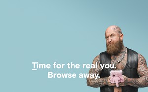 Icon for Browser for the real you (pink phone)