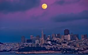 Значок для Orange Moon Against The Purple City