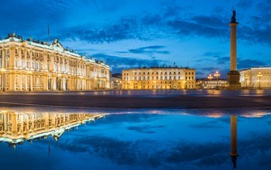 Icona per Palace Square at night