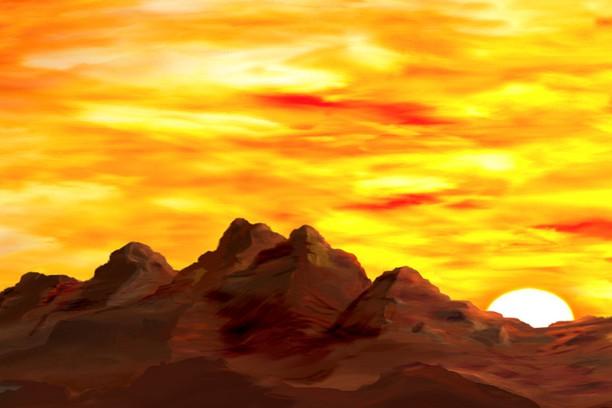 Здымак экрану для Yellow Mountain