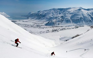 Icona per Горные лыжи / Downhill skiing