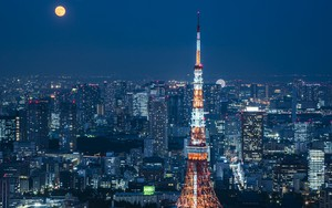 Значок для Super Moon with Tokyo Tower