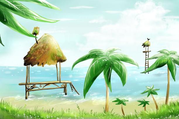 Zrzut ekranu pakietu Hut And Palms