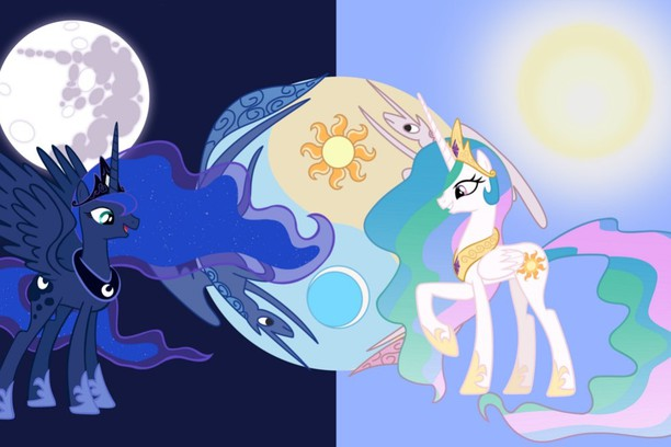 壁紙 mlp princess celestia and luna opera アドオン