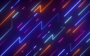 Ikona za Abstract Neon light lines