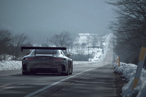 Mercedes Benz SLS AMG GT3 on the Road 的屏幕截图
