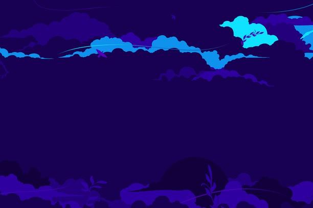 Снимок экрана для Cloudy Dark Blue