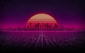 Ikon untuk Retro Futuristic City