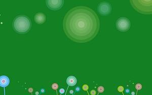 Іконка для Rounded flowers Dark Green
