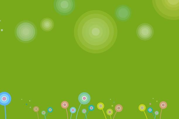Снимок экрана для Rounded flowers Green