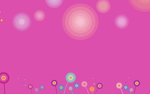 Εικονίδιο Rounded flowers Pink