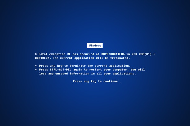 Screenshot di Blue Screen