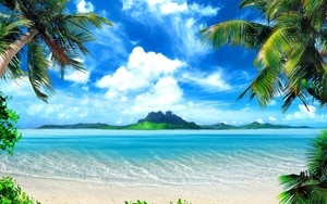 Ikona pro Tropical-Beach-Background