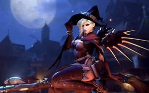 Значок для Overwatch - Witch Mercy