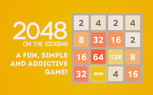 2048 Sidebar