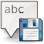 Pictogram voor Save text to File