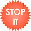 Symbol für Stop-it